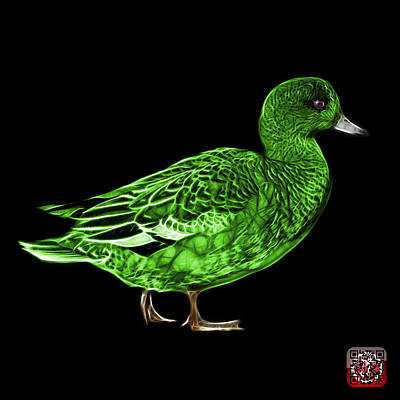 Mixed Media - Green Wigeon Art - 7415 - Bb by James Ahn