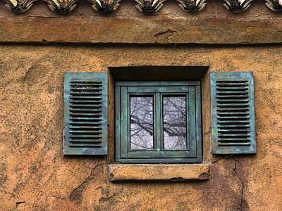 Photograph - Green Window by Inge Riis McDonald