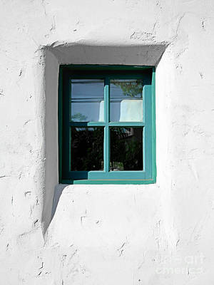 Green Window Art Print