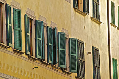 Photograph - Green Window Shutters Of Florence by David Letts
