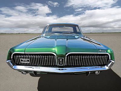Photograph - Green With Envy - 68 Mercury by Gill Billington