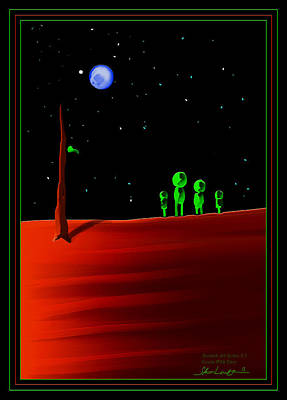 Green With Envy - Scratch Art Series - #5 Art Print by Steven Lebron Langston