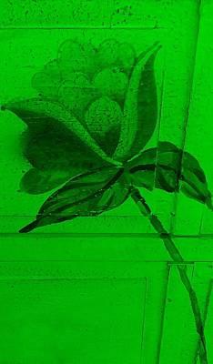 Green Wood Flower Art Print by Rob Hans