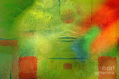Painting - Green World by Lutz Baar