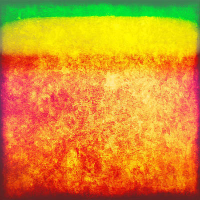Digital Art - Green Yellow Red Texture by Gary Grayson