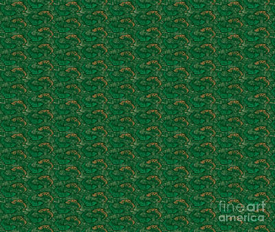 Joe Low Painting - Green Ying Yang Fish Douvet Pillow Design by JQ Licensing