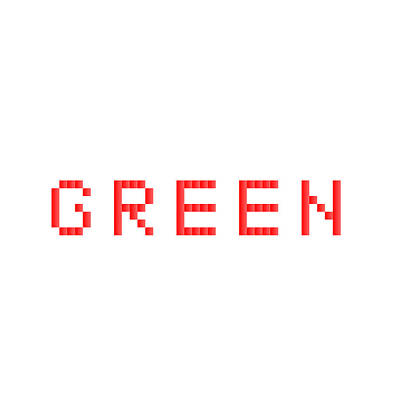 Red Photograph - Green.1 by Gareth Lewis