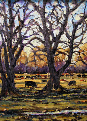 Painting - Greenbelt Cows by Les Herman