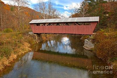 Photograph - Greenbrier County West Virginia Covered Bridge by Adam Jewell