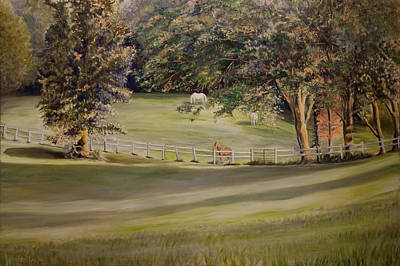Painting - Greener Pastures And Horses by Jennifer Lycke