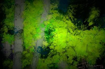 Digital Art - Greenery by Jim Vance
