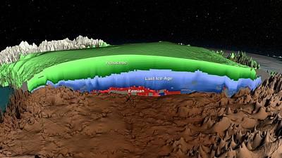 Data Photograph - Greenland Ice Sheet Stratigraphy by Nasa/scientific Visualization Studio