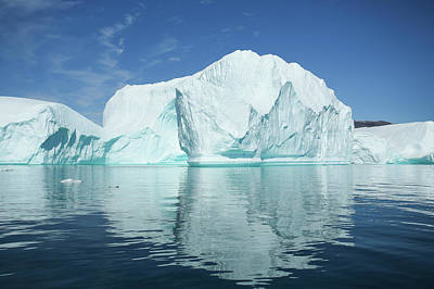 Icebergs Photograph - Greenland, Scoresby Sund, Red Island by Aliscia Young