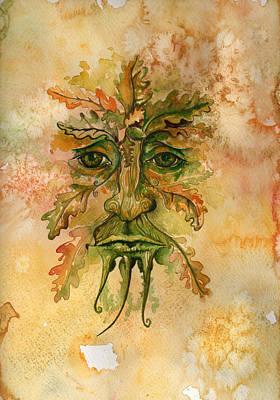 Greenman Painting - Greenman by Helen Bennett