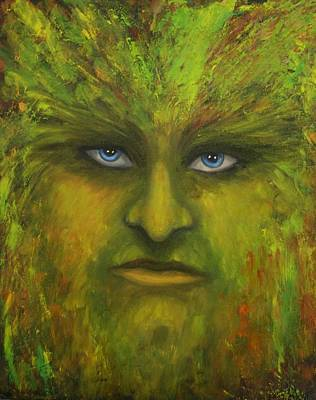 Painting - Greenman by Kristen R Kennedy