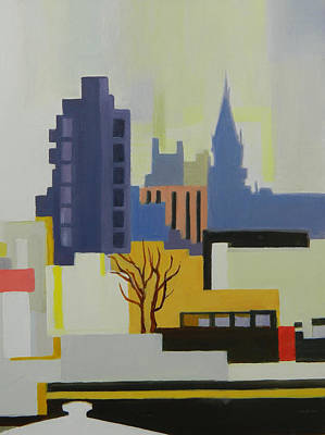 Painting - Greenpoint From Pulaski Bridge by Ron Erickson