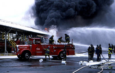 Photograph - Greenpoint  Gas Terminal Fire by Steven Spak