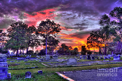 Photograph - Greensboro Cemetery Sunset And Life by Reid Callaway