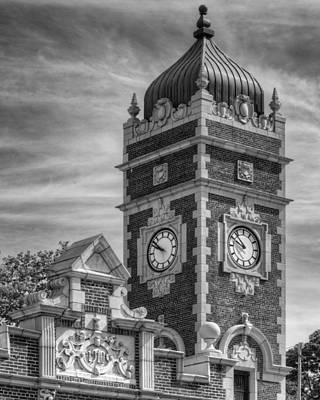 Photograph - Greensburg Train Station Clock Tower by Coby Cooper