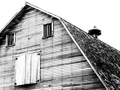 Farm Photograph - Greenville Barn Bw by Julie Hamilton