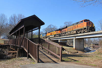 Photograph - Greenville Western Railway With Bnsf Power by Joseph C Hinson Photography