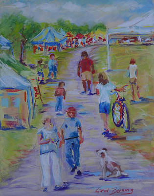 Painting - Greenway Art Festival by Carol Berning