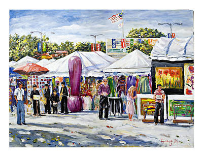 Painting - Greenwich Art Fair by Ingrid Dohm