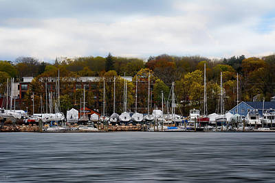 Photograph - Greenwich Harbor by Lourry Legarde