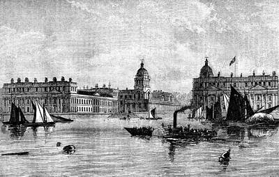 Greenwich Hospital Print by Collection Abecasis