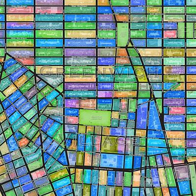 Greenwich Village Digital Art - Greenwich Village - Cool Tones by Paul Hein