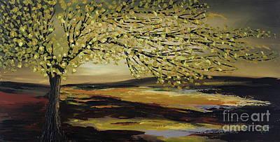 Painting - Greeny Day by Preethi Mathialagan