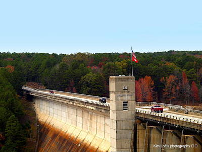 Greers Ferry Lake Photograph - Greers Ferry Dam by Kim Loftis