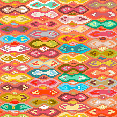 Greeshma Ikat Art Print by Sharon Turner