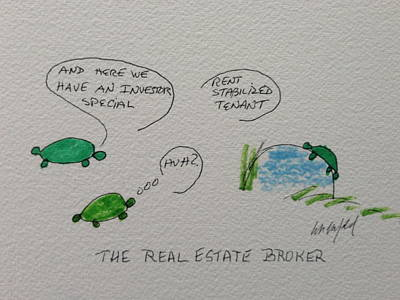 Greeting Card Voice Of The Turtle The Real Estate Broker I Print by Gail Eisenfeld