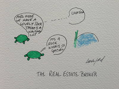 Greeting Card Voice Of The Turtle The Real Estate Broker II Print by Gail Eisenfeld