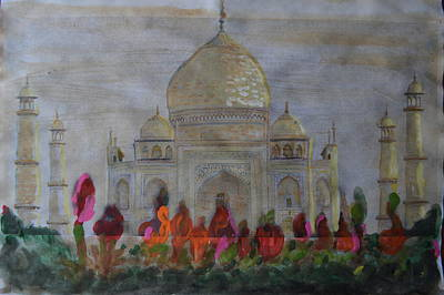 Greeting From The Taj Art Print