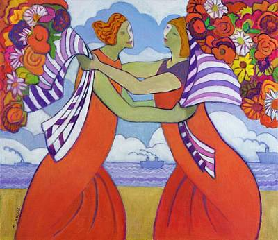 Embrace Painting - Greetings, 2003-04 by Jeanette Lassen