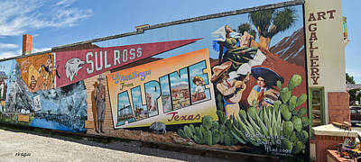 Photograph - Greetings  From Alpine Texas Mural by Allen Sheffield