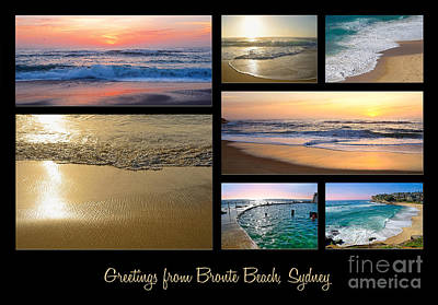 Photograph - Greetings From Bronte Beach Sydney By Kaye Menner by Kaye Menner
