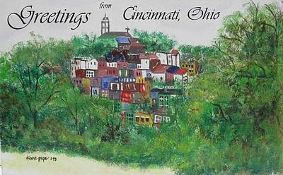 Painting - Greetings From Cincinnati Ohio by Diane Pape