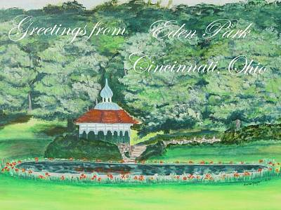 Painting - Greetings From Eden Park Cincinnati Ohio by Diane Pape