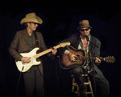 Folk Singer Photograph - Greg Brown And Bo Ramsey In Concert by Randall Nyhof
