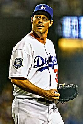 Los Angeles Dodgers Painting - Greg Maddux Painting by Florian Rodarte