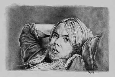 Gregg Allman Drawing - Gregg Allman by Art Imago