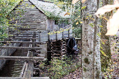 Photograph - John Cable Mill Flume by Gene Berkenbile