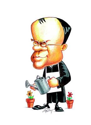 Heredity Photograph - Gregor Mendel by Gary Brown