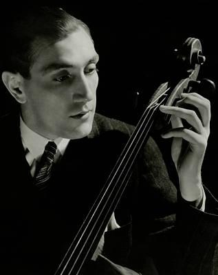Gregor Piatigorsky With A Cello Art Print