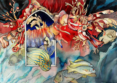 Sea Dragon Painting - Gregorian Chant by Liduine Bekman