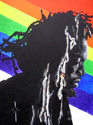 Painting - Gregory Isaacs by Jodie Marie Anne Richardson Traugott          aka jm-ART