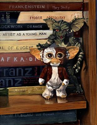 Gremlin Painting - Gremlins by Rick Liebenow